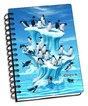 "Iceberg 3D Notebook 4"" x 6"""