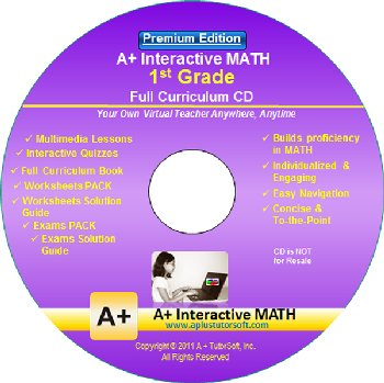 1st Grade MATH Full Curriculum Software CD - Premium Edition