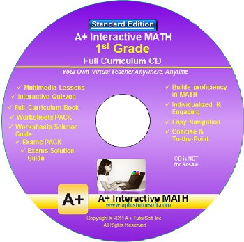 1st Grade MATH Full Curriculum Software CD - Standard Edition