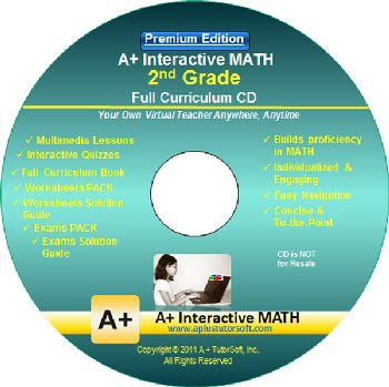 2nd Grade MATH Full Curriculum Software CD - Premium Edition