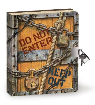 Keep Out Lock & Key Diary