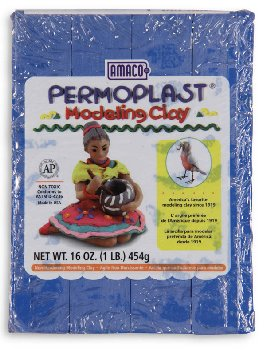 Permoplast Modeling Clay Blue 4-Stick 1 lb.