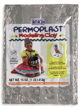Permoplast Modeling Clay Gray 4-Stick 1 lb.