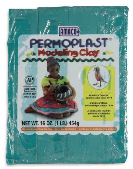 Permoplast Modeling Clay Green 4-Stick 1 lb.