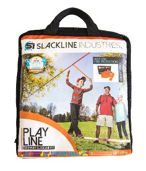 Beginner Slackline 50 ft, with rubber grip and help line