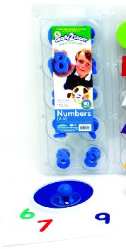 Numbers 0-9 Giant Stampers - Set of 10 (Ready 2 Learn Giant Stampers)