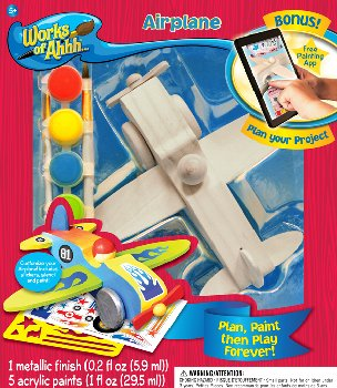 Airplane Wood Painting Kit