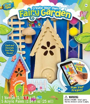 Fairy Garden Wood Painting Kit