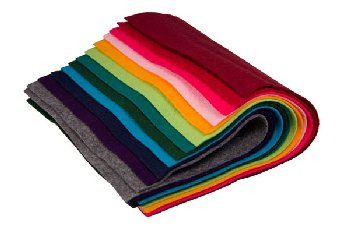 "Bright & Dark Colors Felt Assortment (9"" x 12"" ) -12 sheets"