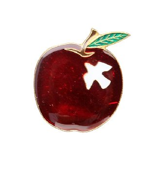 Apple with Dove Lapel Pin