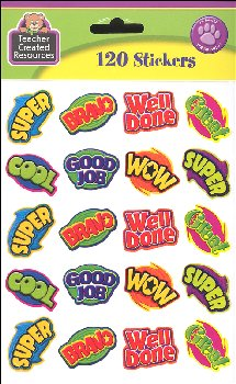 Positive Words Stickers (120 per pack)