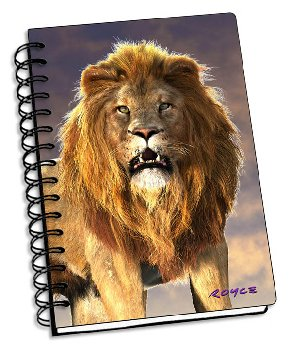 "Lion 3D Notebook 4"" x 6"""