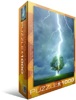 Lightning Striking Tree Puzzle - 1000 pieces