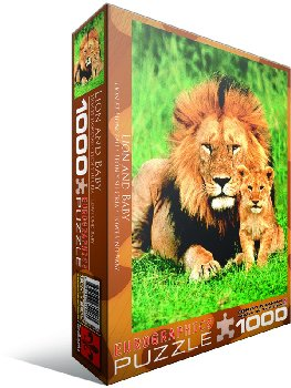 Lion and Baby Puzzle - 1000 pieces