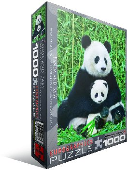 Panda Bear and Baby Puzzle - 1000 pieces