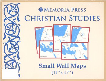 "Christian Studies Small Wall Maps (11"" x 17"")"