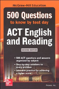 500 ACT English/Reading Questions by Test 2E