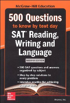 500 SAT Critical Reading/Writing Qs by Test
