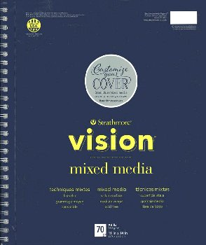 "Strathmore Vision Mixed Media Pad - 11"" x 14"" (70 sheets)"