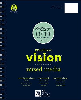 "Strathmore Vision Mixed Media Pad - 9"" x 12"" (70 sheets)"
