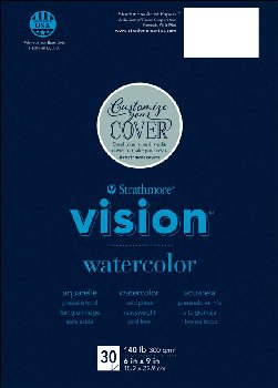 "Strathmore Vision Watercolor Pad 18"" x 24"" (30 sheets)"