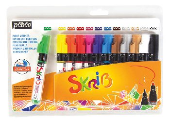 Skrib Gouache Paint Markers - Rainbow (set of 12)