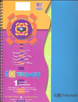 Extremes One Subject College Ruled Notebook