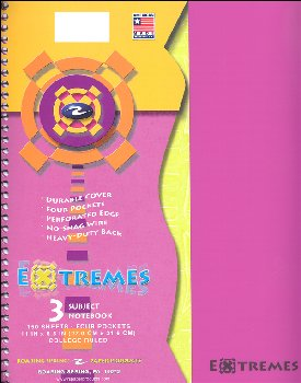 Extremes Three Subject College Ruled Notebook