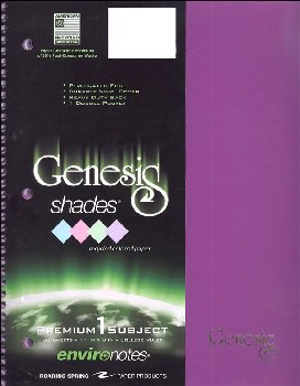 Genesis Shades One Subject Notebook - College Ruled Purple Paper