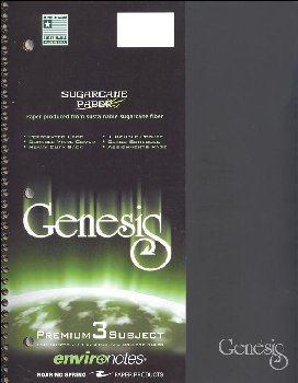 Genesis Three Subject College Ruled Notebook