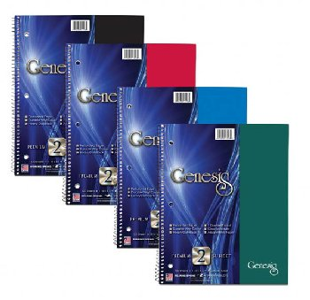 Genesis Two Subject College Ruled Notebook