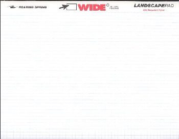"Landscape Wide Pad - 5"" x 5"" Graph Ruled"