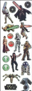 Star Wars - The Saga Prismatic Stickers (2 sheets)