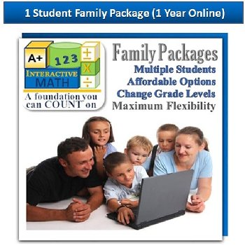 Family Math Package for 1 Student