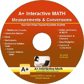 Measurements & Conversions Math CD-ROM (Supplemental Software)