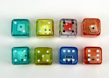 Double Dice in a tube - A Die within a Die (Assorted 8 Piece Set - 19mm)