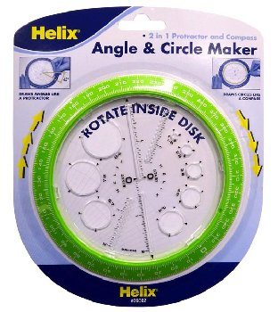 Angle and Circle Maker (2 in 1 Protractor and Compass)