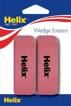 Wedge Eraser Pack of 2