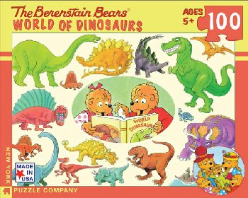 World of Dinosaurs (Berenstain Bears) - 100 Piece Puzzle