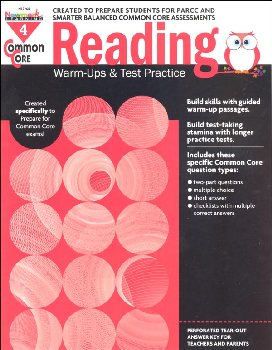 Common Core Reading: Warm-Ups and Test Practice - Grade 4