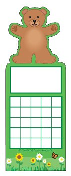 Teddy Bear Personal Incentive Charts