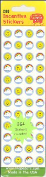 Rainbow Sun Incentive Stickers