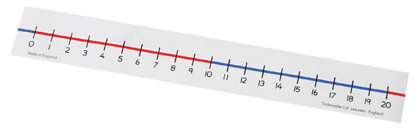 Tabletop Number Lines 0-20 (Set of 10)
