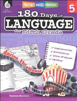 180 Days of Language for Fifth Grade (Practice, Assess, Diagnose)