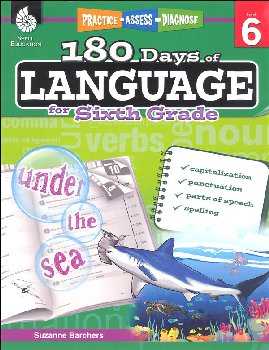180 Days of Language for Sixth Grade (Practice, Assess, Diagnose)