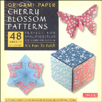 "Origami Paper - Cherry Blossom Patterns (Small 6 3/4"")"
