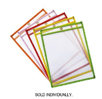 "Dry Erase Pocket Bright Hues Assorted Color (6"" x 9"")"