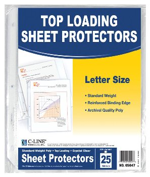 Sheet Protectors (package of 25)