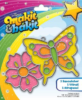 Makit & Bakit Suncatcher: Butterfly and Flower