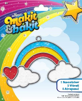 Makit & Bakit Suncatcher: Rainbow with Clouds